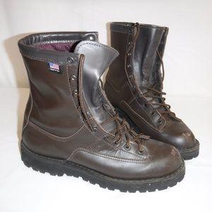 Danner Mens Dark Brown Boot Size 9 1/2 Steel Toe